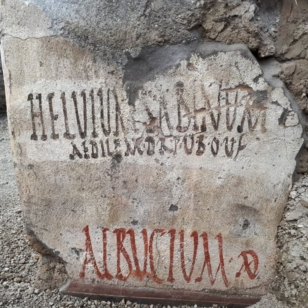 In Pompeii new electoral inscriptions re-emerge in the excavation works of the RegioV