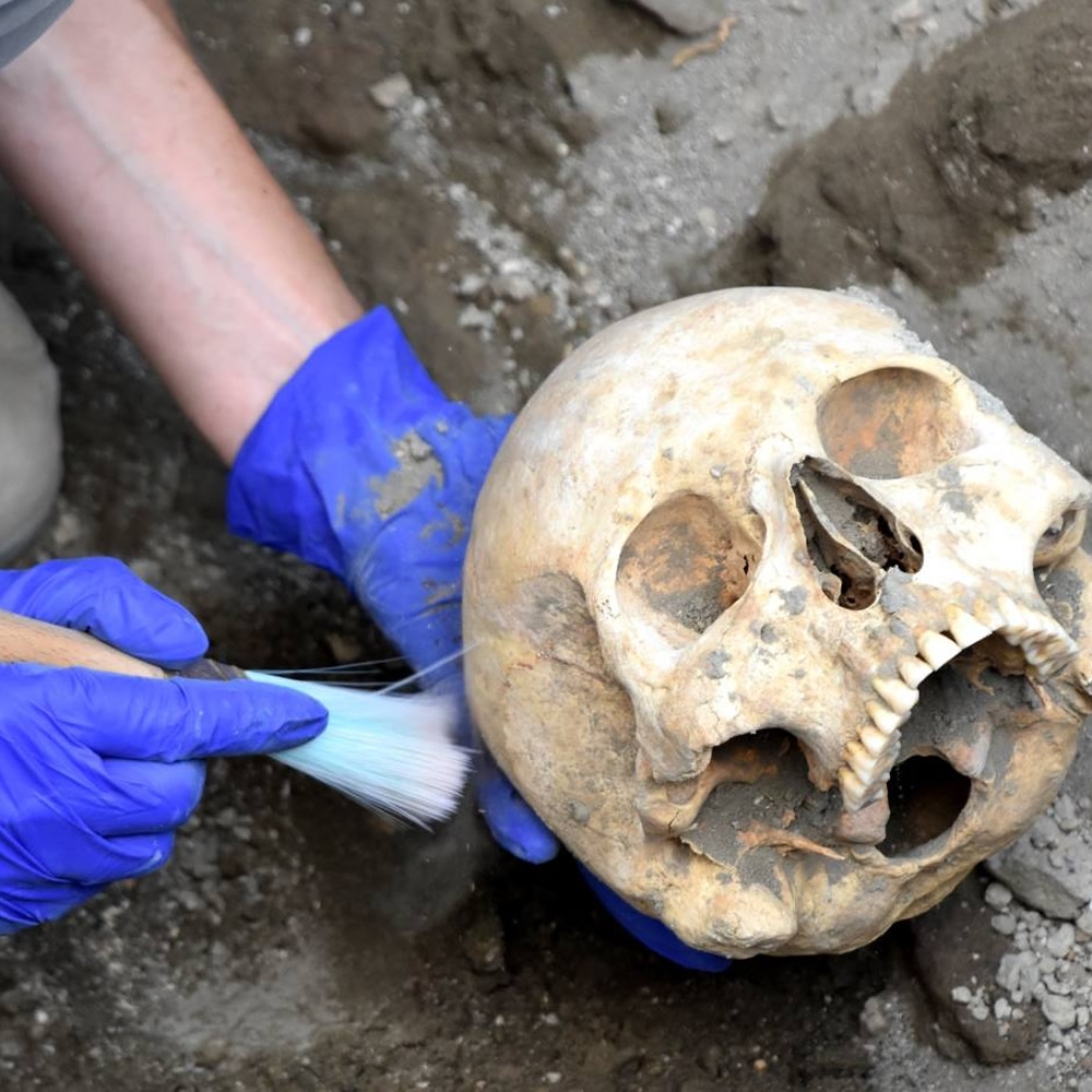 Pompeii, found the skull of the last fugitive: the real causes of his tragic end