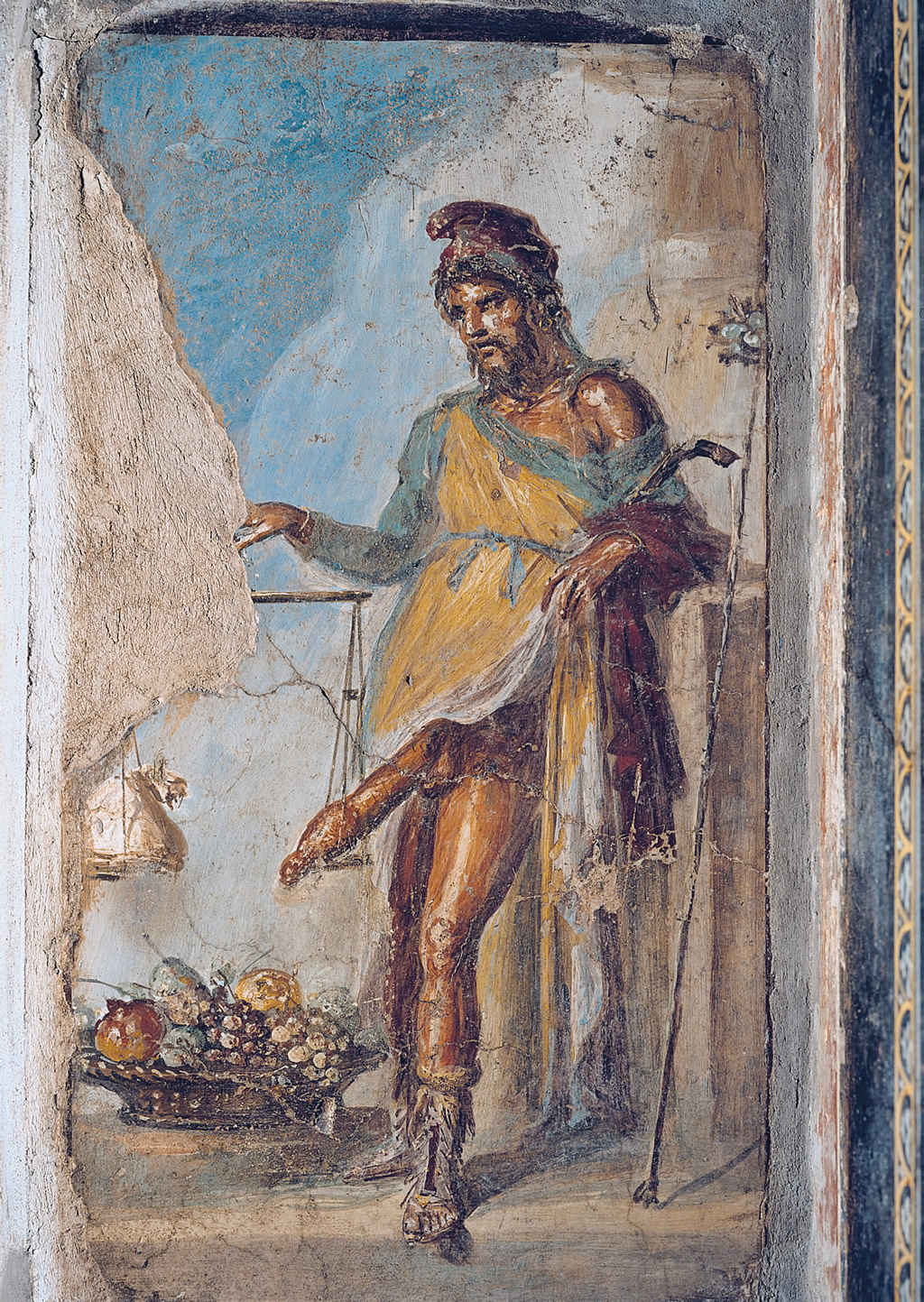 Priapus weighing his male member. House of the vetti.