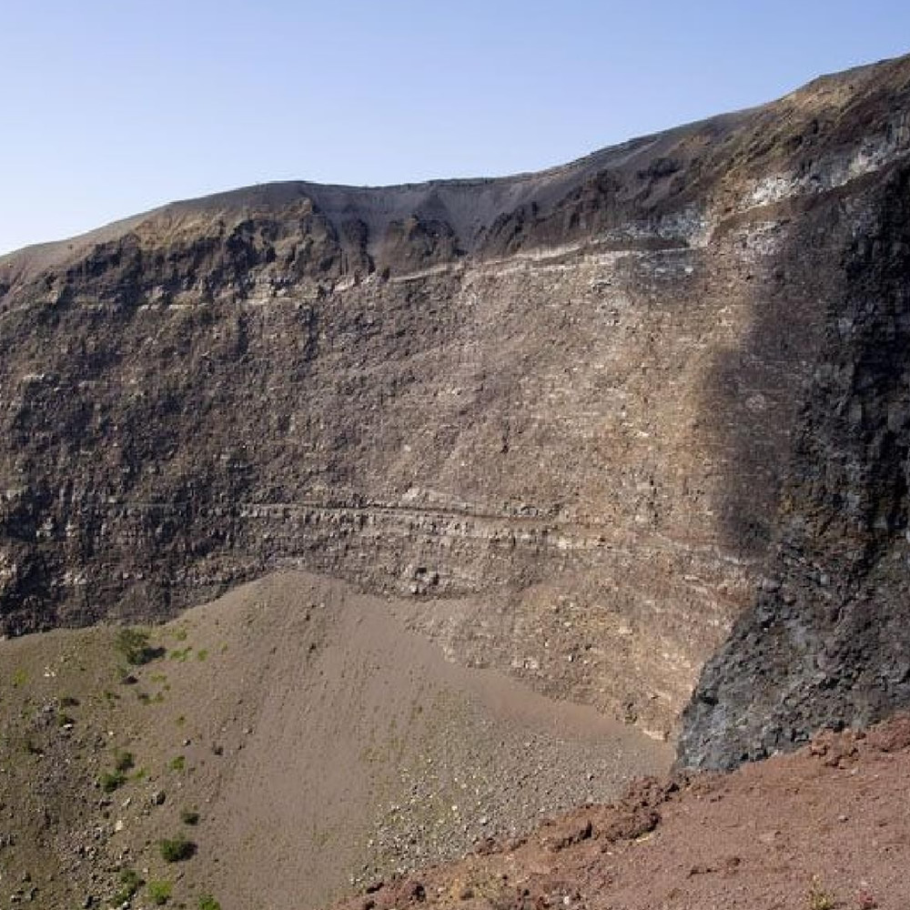 Inside wall of the Vesuvius crater